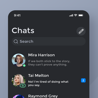 Instant messaging / daily ui challenge